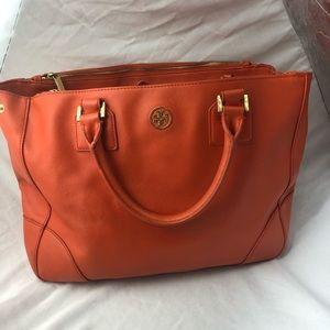 Tory Burch orange tote bag